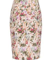 rok in 5-pocketsmodel bloemenprint van peter hahn multicolour