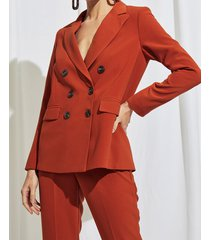 blazer marrón portsaid structured long alexia