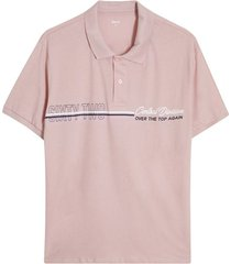 polo hombre sixty two color rosado, talla l