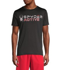 spyder men's logo graphic t-shirt - black - size m