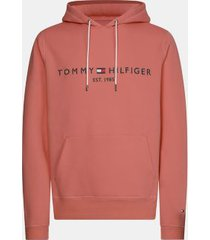 tommy hilfiger men's big and tall organic cotton logo hoodie mineralize - 2xl