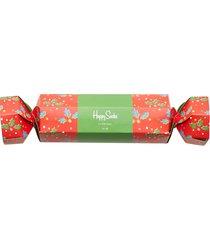 christmas cracker holly gift box underwear socks regular socks multi/mönstrad happy socks
