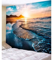 sunrise beach printed tapestry wall hanging art decoration