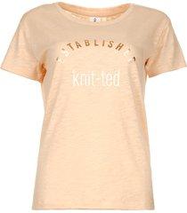 t-shirt met tekstprint marian  roze