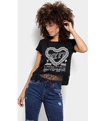 camiseta my favorite thing (s) com renda feminina - feminino