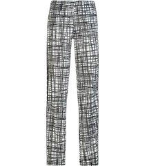 pantalones mujer 222 banda wastoria graphicslim kappa blanco
