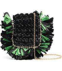 la doublej purse necklace crossbody bag - black