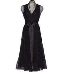 tiered tulle dress knälång klänning svart cathrine hammel