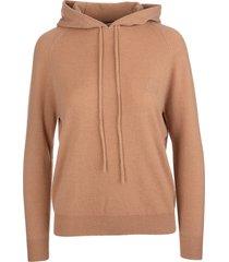max mara camel caden pullover with hood