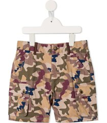 velveteen hayden camouflage cargo shorts - multicolour