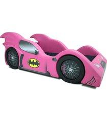 cama carro infantil bat girl rosa