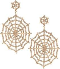 eye candy la women's luxe goldtone & crystal statement earrings