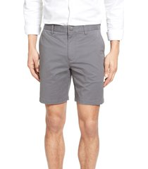 men's bonobos stretch washed chino 7-inch shorts, size 29 - grey