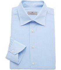 canali men's modern-fit check shirt - blue - size 45 (17.75)