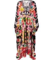 camilla printed kaftan dress - red