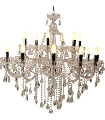 lustre de cristal belle époque para 18 lâmpadas bivolt