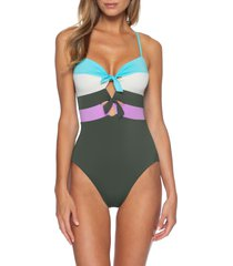 women's becca circuit colorblock one-piece swimsuit