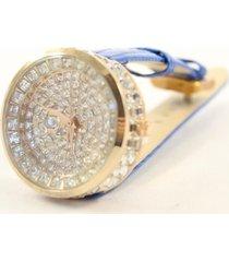 reloj azul almacén de paris strass fiesta brillo elegante