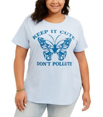 love tribe trendy plus size don't pollute t-shirt