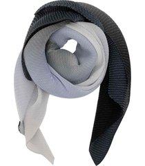 emporio armani navy gradient effect scarf