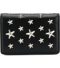 jimmy choo jaxi star-studded wallet - black