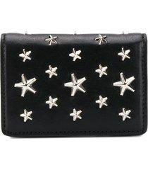 jimmy choo jaxi star-studded wallet - black