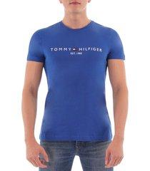 tommy hilfiger logo t-shirt - blue quartz mw0mw11465