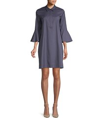 lunella bell-sleeve shift dress