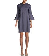 lunella bell-sleeve shift dress