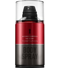 perfume antonio banderas the secret temptation masculino body spray 250ml