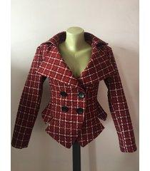 women's wine tartan jacket, bordeaux fitted blazer, green tailored blazer,steamp