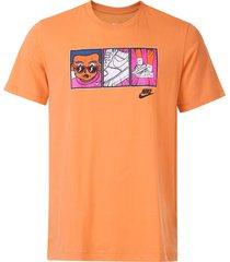 camiseta nike sportswear nsw ftwr laranja - kanui