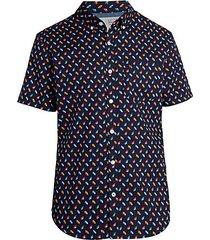 seashell-print short-sleeve shirt