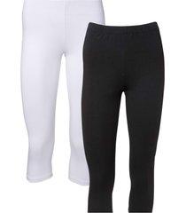 leggings a pinocchietto (pacco da 2) (bianco) - bodyflirt