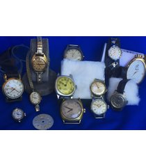 wholesale watch lot fluva birks longines art deco doxa 15 pcs s/work /repair