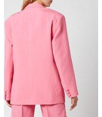 de la vali women's montana blazer - pink solid - uk 12