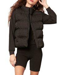 women's bb dakota going gets puff camo vest, size x-small - black