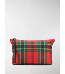 alexander mcqueen plaid canvas pouch