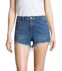 l'agence women's ryland high-rise cut off denim shorts - caspian - size 26 (2-4)