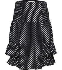 grace skirt knälång kjol svart lollys laundry