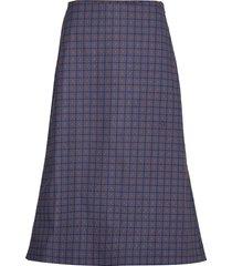 hoover knälång kjol blå munthe