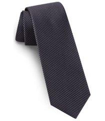 men's ted baker london solid skinny silk tie, size regular - black