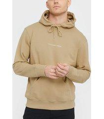 the classy issue logo hoodie tröjor beige