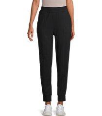 beach lunch lounge women's cotton-blend jogger pants - grey heather black - size l