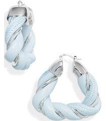 bottega veneta twisted leather earrings in 4940-bubble at nordstrom