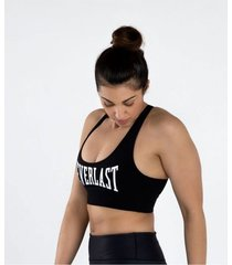 top negro everlast compression algodón/lycra