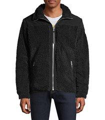 barrows zip-up faux fur jacket