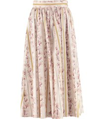 forte forte printed cotton skirt