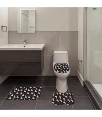 jogo de banheiro natal lhama preto ãšnico - preto - dafiti