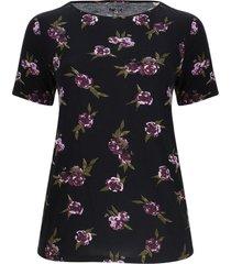camiseta floral color negro, talla 1xl